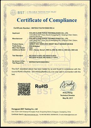 Zertifizierung des Datenloggers ws1-RoSH