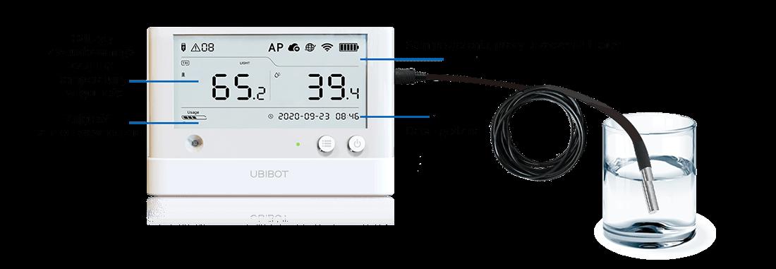 Rejestrator WiFi zekranem LCD Ubibot Ws1 Pro