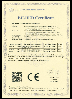 Datenlogger Zertifikat WS1 Pro-CE