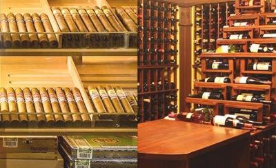 Monitoring temperatury, wilgoci w pomieszczeniach do przechowywania wina i cygar