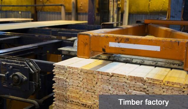 monitorowanie temperatury i wilgotności w fabryce drewna