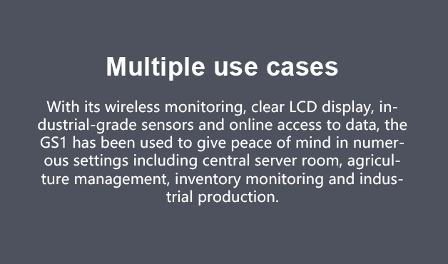 Ubibot GS1 multiple use cases