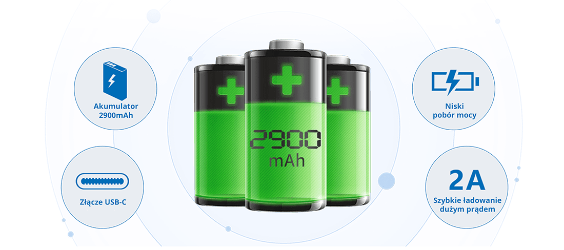 Akumulator wrejestratorze Ubibot GS1