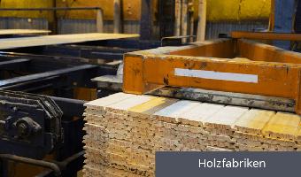 Temperatur- und Feuchtigkeitsmessung in einer Holzfabrik